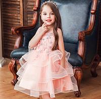 Плаття святкове з вишивкою Фантазія рожеве