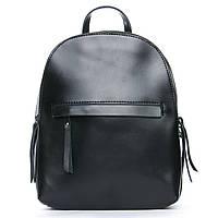 Женский рюкзак из натуральной кожи черного цвета, фото 1
