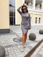 Теплое ангоровое платье миди с длинным рукавом, 4 цвета (40-46), фото 1
