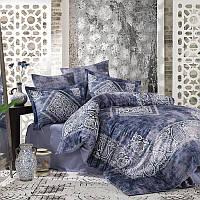 Комплект белья сатин Dantela Vita Digital Grace Blue, фото 1