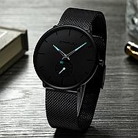 Часы наручные CRRJU. Мужские водонепроницаемые часы Blue