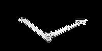 Тяга с фиксацией ECO-Schulte белая RAL9016