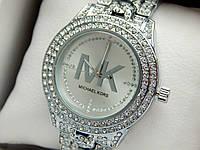 Женские кварцевые наручные часы Michael Kors (Майкл Корс) металл, серебро, CW285