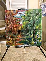 Картина «Встреча осени и лета» холст