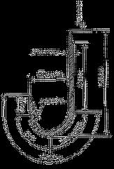Крючки Колюбакинские - одинарные - Оксидированные