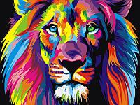 Картина по номерам Радужный лев DIY Babylon VK001 40*30 см