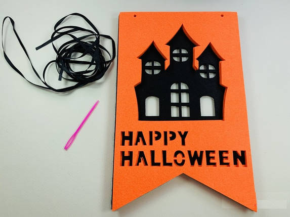 Фетровая гирлянда для Хэллоуина Замок, фото 2