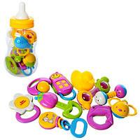 Детский набор Погремушек в виде бутылки 3838А 10шт, от 8см