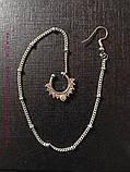 Кольцо для носа под серебро, индийское украшение, пирсинг, фото 3