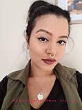 Кольцо для носа под серебро, индийское украшение, пирсинг, фото 7