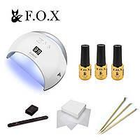 Стартовый набор для маникюра гель лаком FOX LITE с лампой SUN6S UV LED 48 W