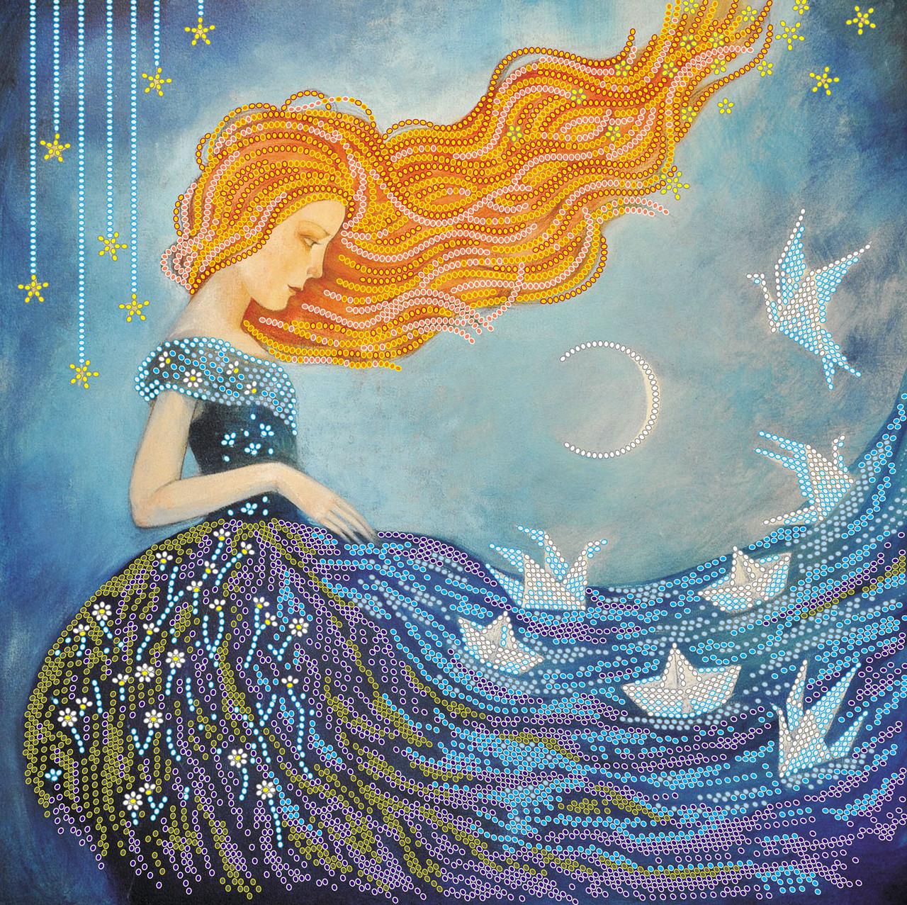 Схема для вишивання бісером на холсті «Сутінкові мрії» ,30x30см,Abris art