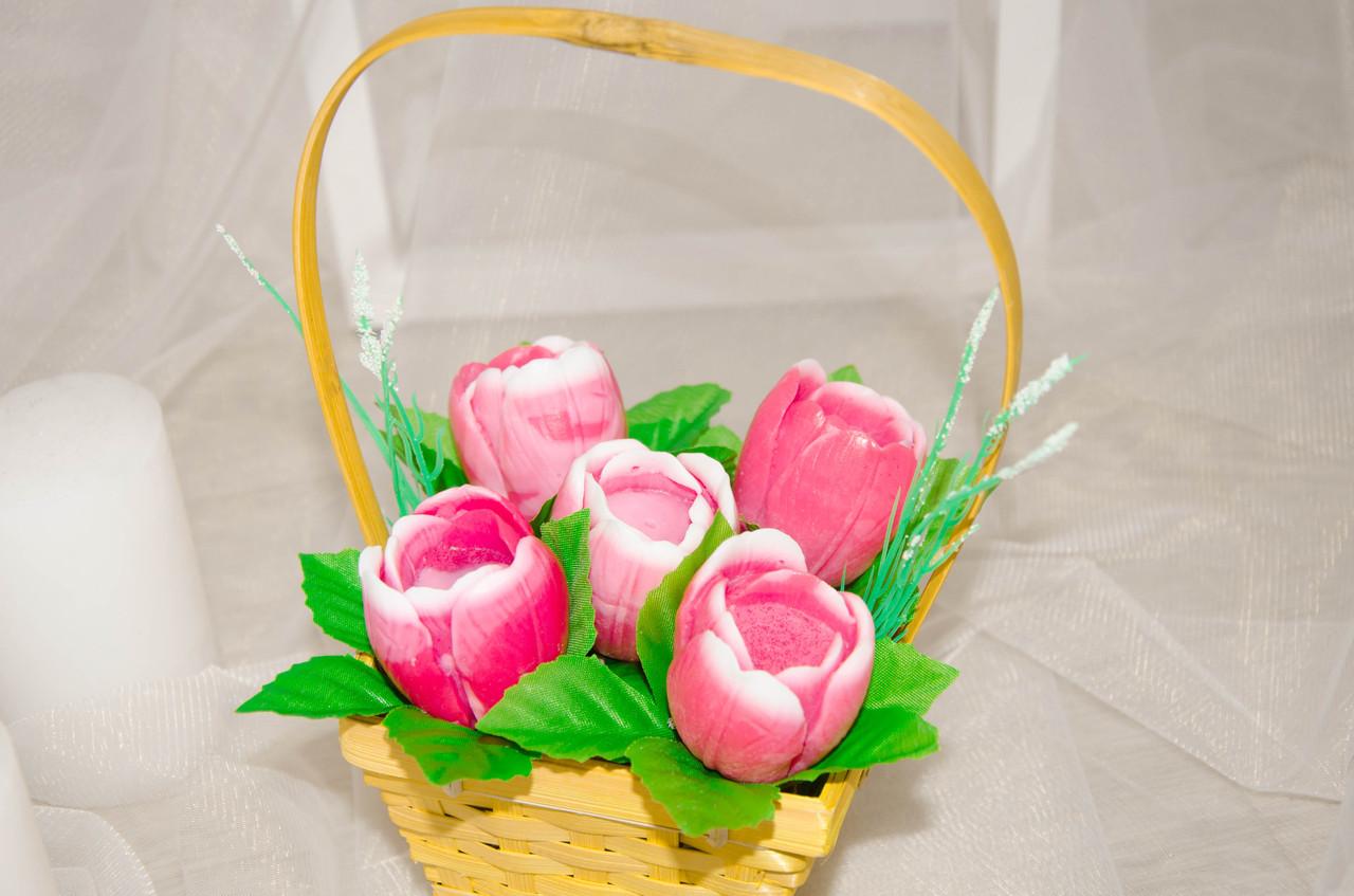 """Кошик """"Букет тюльпанів"""""""