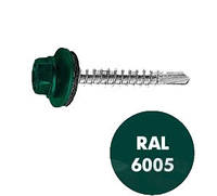 Шуруп для кровли по металлу 4.8х19 RAL 6005