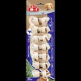Кость с говядиной для собак 8in1 Delights Beef XS/7 см 7 шт.