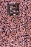 Зимнее пальто-батал полу-приталенного кроя. Высокий воротник и прорезные карманы. р.50 код 7013М, фото 5