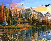 Картина по номерам Закат над озером 40 х 50 см (VP1160)