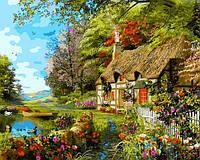 Картина по номерам Домик на берегу озера 40 х 50 см (VP1161)