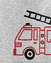 """Набор для мальчика Carter's """"Пожарная машина"""" боди на длинный + штанишки, костюм картерс, веселые попки, фото 2"""