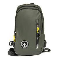 Сумка-рюкзак 1036-1 green зеленый текстильный на одно плечо банан слинг