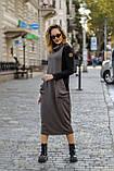 Платье комбинированное миди / двунитка, джерси с начесом / Украина 1-550, фото 4