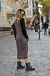 Платье комбинированное миди / двунитка, джерси с начесом / Украина 1-550, фото 6