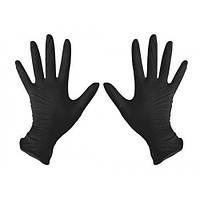 Перчатки нитриловые нестерильные неопудренные черные S, (разм.6-7) 200 шт/уп