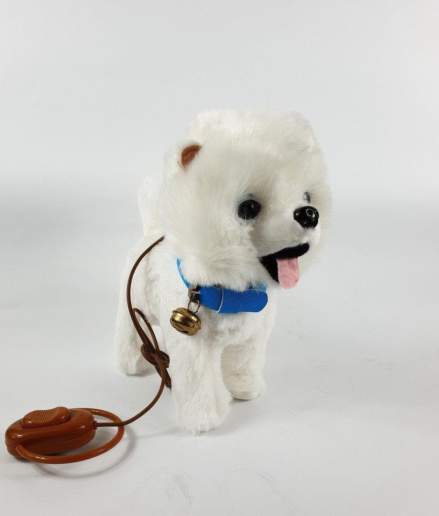 Собачка, бегает, лает, на пульте,, интерактивная, шпиц,  мягкая игрушка, музыкальная игрушка