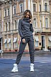 Женский утепленный спортивный костюм с двойным капюшоном / трикотаж джерси с начесом / Украина 1-553, фото 8