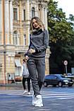 Женский утепленный спортивный костюм с двойным капюшоном / трикотаж джерси с начесом / Украина 1-553, фото 7