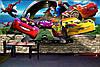 Большой размер! Наклейка виниловая интерьерная настенная на стену для мальчика Машины в детскую комнату, фото 3