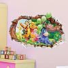 Виниловая интерьерная детская наклейка на стену Винни пух акробат, фото 8