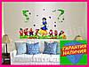 Интерьерная виниловая наклейка в детскую комнату на стену Белоснежка и 7 гномов, фото 4