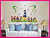 Интерьерная виниловая наклейка в детскую комнату на стену Белоснежка и 7 гномов, фото 8