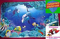 Интерьерный коврик для ванной, спальни или детской комнаты Дельфины