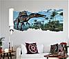 Объемная интерьерная виниловая 3D наклейка детская Динозавры на стену наліпка дитяча Динозаври, фото 2