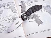 Нож складной, универсальный, крупный, подходящий для походов, охоты и экстремальных ситуаций, с узором, фото 1