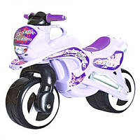 "Каталка мотоцикл ""Мото Байк"" белый, Kinderway (11-006 БЕЛЫЙ)"