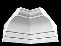 Потолочный плинтус гладкий для натяжного потолка Glanzepol GPX15, 80х50 мм