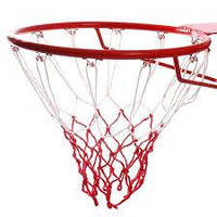 Сетка баскетбольная двухцветная нейлон (пара), 6 мм, на 12 петель