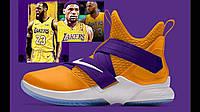 Мужские баскетбольные кроссовки Nike Lebron Lakers Bar Detroit реплика ААА класса
