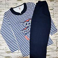 Размер XL (48-50). Синий теплый женский комплект для сна, пижамка, одежда для дома, кофта и штаны, Турция