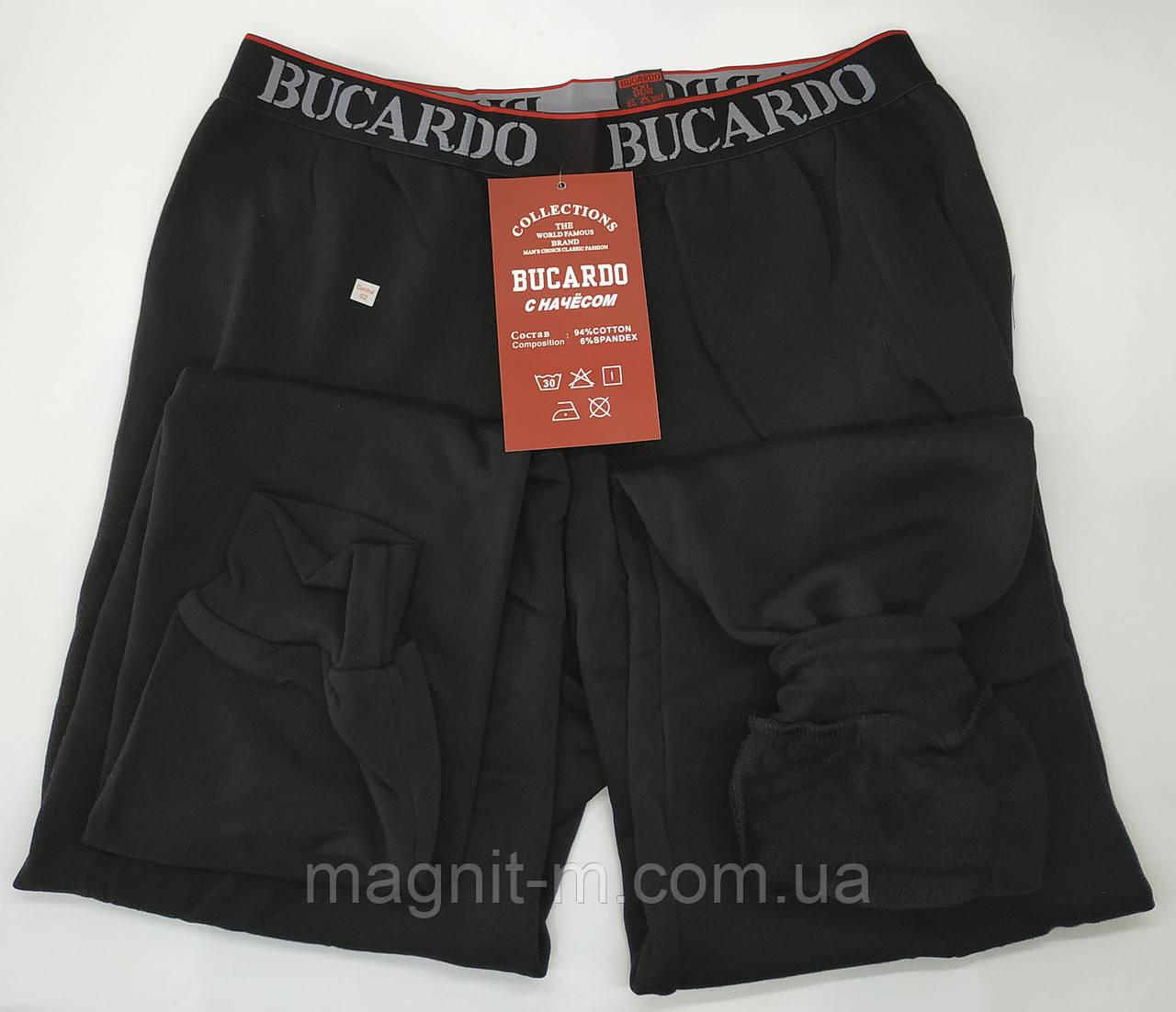 """Теплые подштанники  с начесом """"Bucardo"""". Спортивная резинка. Черный цвет."""