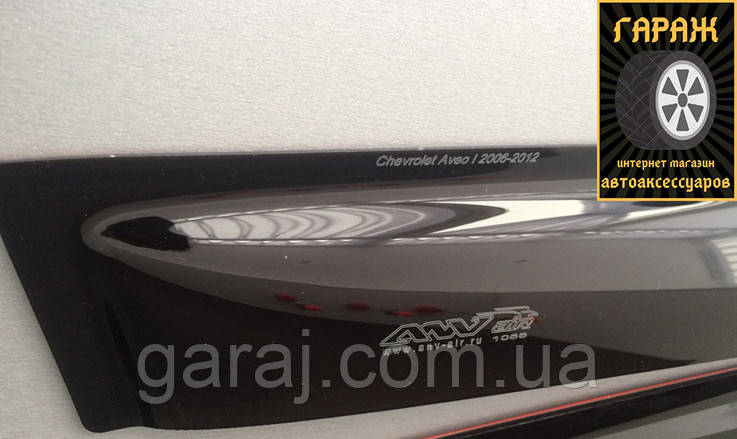 "Дефлекторы окон Ford Transit Custom 2014- Перед. на скотче ""Anv-Air"""