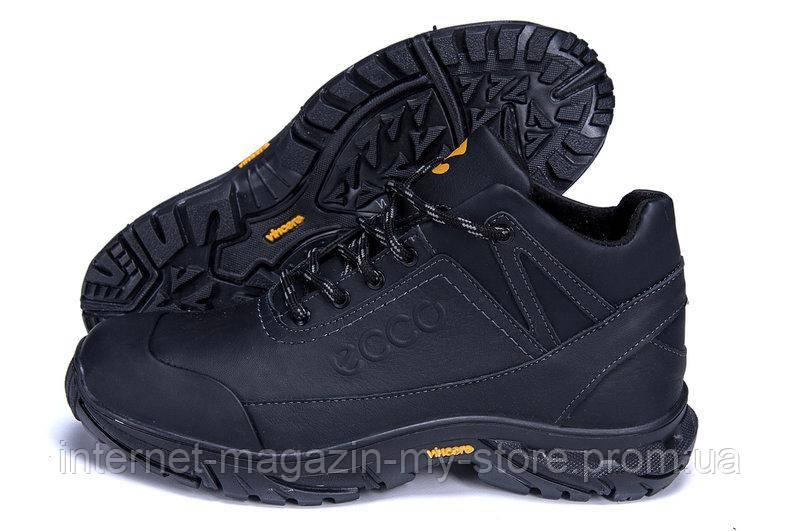 Мужские кожаные зимние ботинки Экко