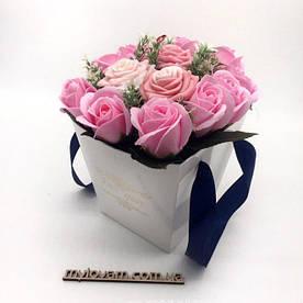 Букет з мила ручної роботи, букет троянд