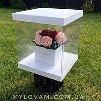 Букет из мыла ручной работы, розы в коробке
