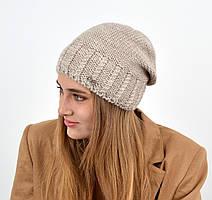 Женская шапка veilo на флисе 3417св.беж