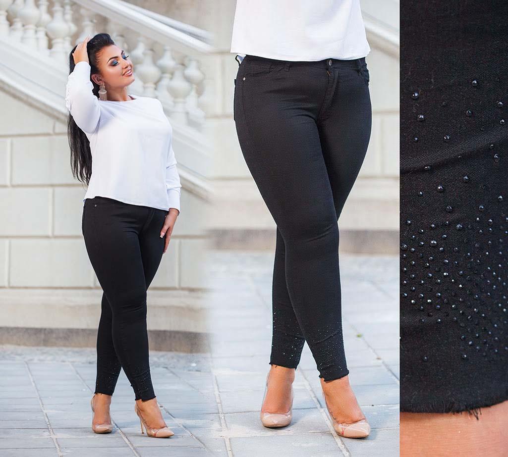 """Стильные женские джинсы стрейч в больших размерах """"3840"""""""
