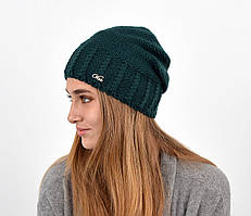 Женская шапка veilo на флисе 3417 бутылка